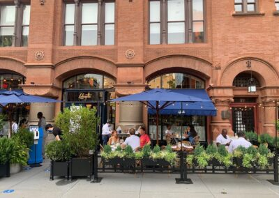 Dinning outdoors in New York.